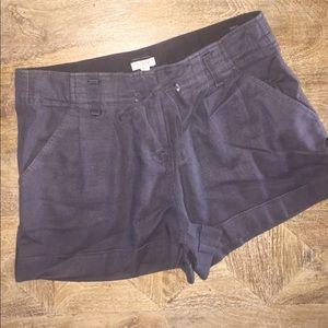 JCREW Drawstring Navy Linen Shorts. Size: 4.